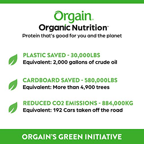 Orgain Organic Nutritional Shake, Vanilla Bean - Meal Replacement, 16g Protein, 20 Vitamins & Minerals, Gluten Free, Soy Free, Kosher, Non-GMO, 11 Ounce, 12 Count (Packaging May Vary)