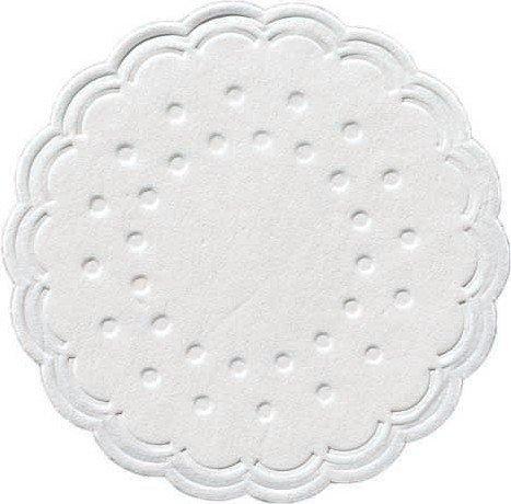 Duni Untersetzer 8lagig Tissue Uni weiß, ø 7,5 cm, 250 Stück