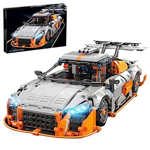 SENG Technik Sportwagen Bausatz, 1435 Teile Bausteine Auto Rennwagen Modell Klemmbausteine Bauset Kompatibel mit Lego