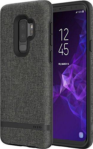 Incipio [Esquire Series] Carnaby Case für Samsung Galaxy S9+ (grau) von Samsung zertifizierte Schutzhülle [Baumwollartige Oberfläche I Robuste Hartschale I Edle Optik I Hybrid] - SA-928-GRY
