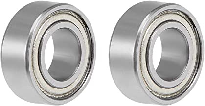 uxcell R188ZZ Deep Groove Ball Bearing 1/4 inches x 1/2 inches x 1/8 inches Double Shielded Z2 Lever Bearings 2-Pack