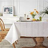 CYYyang fácil de Limpiar, para jardín, Habitaciones, decoración de Mesa, Idílico algodón Hueco Foto Bordado Blanco