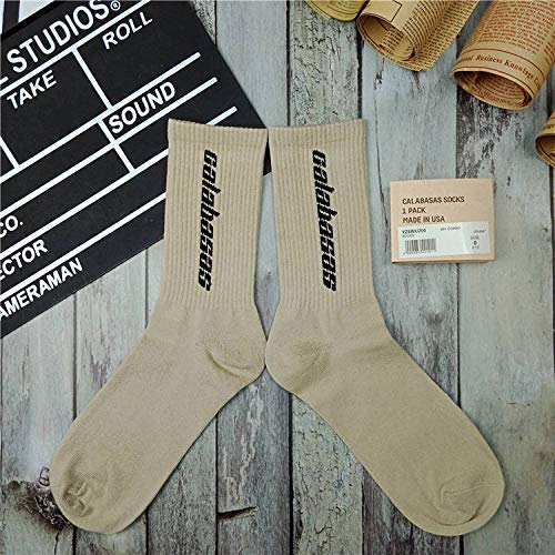 ROUNDER Socken Männer und Frauen Calabasas Handtuchboden Sportsocken eine Größe-Aprikose