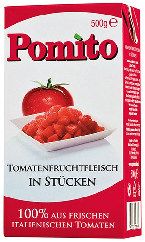 4x Pomito - Tomatenfruchtfleisch in Stücken - 500g