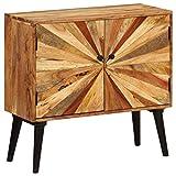 Festnight- Sideboard Kommode Seitenschrank Standschrank Massiv-Mangoholz Wohnzimmer Esszimmer Holzkommode 85 x 30 x 75 cm
