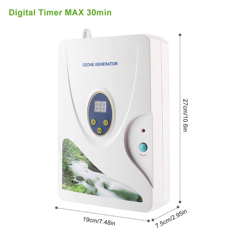Tnfeeon Generador de ozono Purificador de Aire, portátil 600 MG/h ...