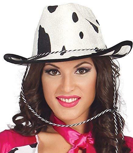 Femme Sexy Cowgirl Imprimé Vache Far West Cowboy Sheriff Costume Déguisement Hat