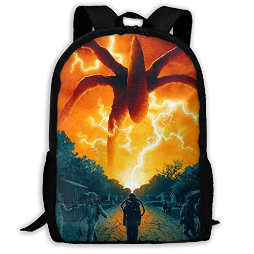 Stranger Things Pattern Backpack, Lightweight Multi-Function College School Laptop Bookbag 17 Inches