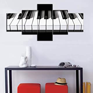 Black and White Bedroom Wall Decor Piano Keys Paintings Keyb