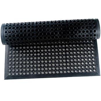 Vivol Gummi Ringmatte 100x200 cm Schwarz Gummimatten aussen im verschiedenen gr/ö/ßen erh/ältlich Fu/ßmatte f/ür au/ßen im Garten oder an der Hintert/ür