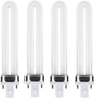 Lampe UV 9W pour Ongles Gel Dryer, Culot G23, UVA 365nm en Forme de U Tube, Adapté pour 9W ou 36W Lampe Séchoir à Ongle, A...