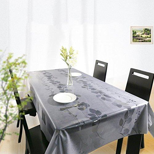 Nappes Facile essuyez Les Clips en Plastique de PVC du Rectangle Lavable de dîner pour des Parties Salle à Manger Garden Hotel Cafe Restaurant Anniversaire Transparent-A 65x65cm(26x26inch)