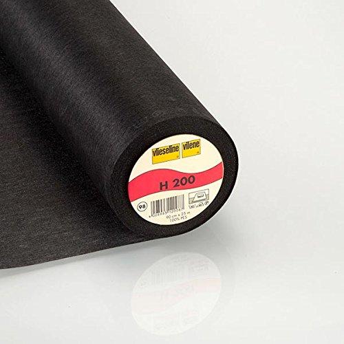 Fabulous Fabrics Vlieseinlage schwarz, 90cm breit – zum Aufbügeln auf Jacken, Kleidern oder Oberteilen - Meterware erhältlich ab 0,5 m