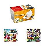 New Nintendo 2DS XL Blanc+Orange + Kirby: Battle Royale + Mario et Luigi: Superstar...