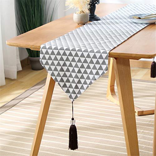 Camino De Mesa Triangular Geométrico Moderno, Adecuado para Mesa De Comedor Doméstica, Mueble De TV, Decoración De Zapatero, Camino De Mesa Duradero Y Fácil De Limpiar