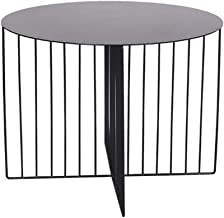 Yxsd Round Coffee Table, Living Room Sofa Side Table Bedroom Bedside Table Outdoor Garden Table (Color : Black, Size : 45 ...