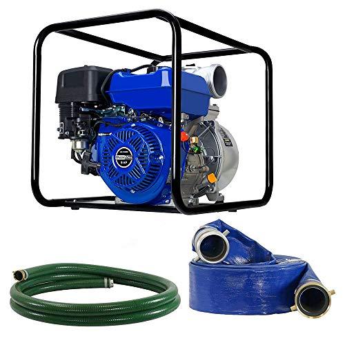 DuroMax XP904WP-LHK 9 HP 427 CFM 3600 RPM 4' Gas Engine Water Pump Kit