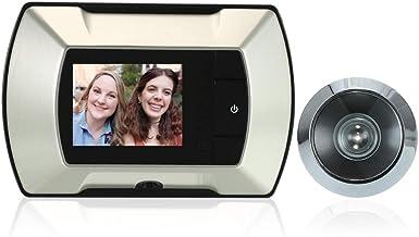 """Romacci Visor visual sem fio TFT LCD TFT de 2,4""""da porta do visor sem fio Monitor elétrico digital da campainha com visor ..."""