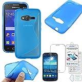 ebestStar - Compatible Coque Samsung Galaxy Trend 2 Lite SM-G318H, Galaxy V Plus Etui Housse Silicone Gel Souple Motif S-Line,...