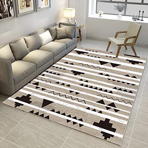 Carpet geschikt voor gebruik in de hal, slaapkamer, antislip tapijt, dekbed en ademend, Scandinavische stijl, modern en modern, voor baby's, 113,80 x 160 cm