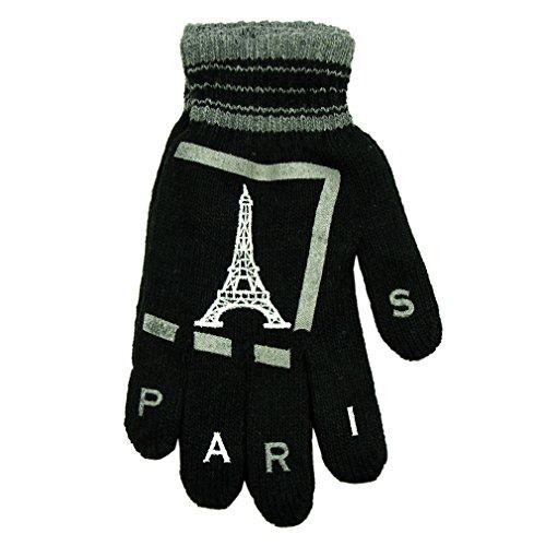Souvenirs de France - Gants Paris 'Tour Eiffel' - Noir