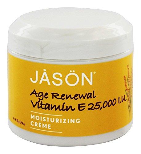 Pack of 5 x Jason Moisturizing Creme Vitamin E Age Renewal Fragrance Free - 25000 IU - 4 oz