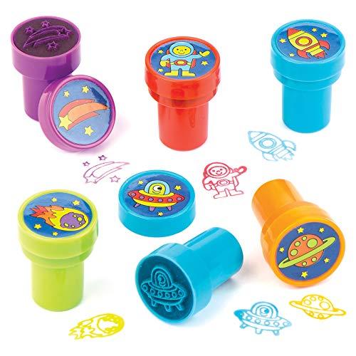 Baker Ross Selbstfärbende Stempel 'Sonnensystem' als lustiges Spielzeug für Kinder zum günstigen Preis – perfekt als kleine Party-Überraschung für Kinder (10 Stück)