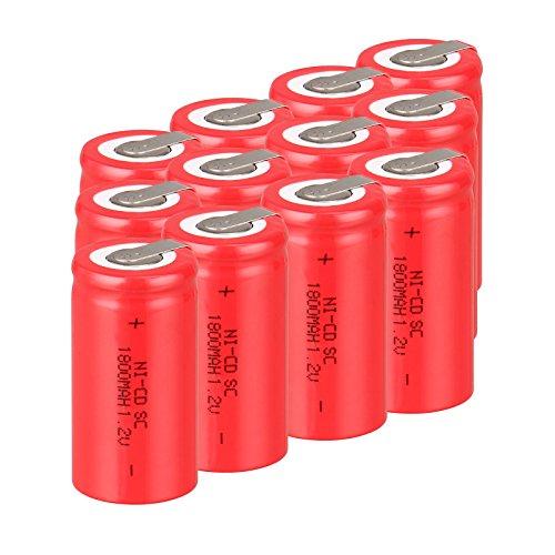 Baterías recargables Anmas Box NiCd 4/5, SudC, 1,2V, 1800mAh, con pestaña, 12/15 unidades