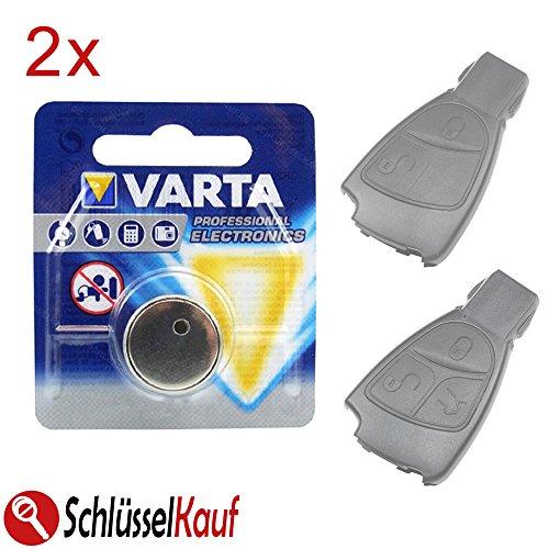 2X Autoschlüssel Batterie Blister Knopfzelle passend für Mercedes Benz W168 W169 W202 W203 W208 W245