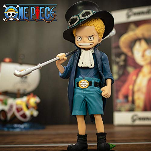 N / A Model Figurine Diy Anime Collectible Computer Case Creative Bedroom Pirate Sailing Model Wang Lufei Childhood Three Brothers Aisababo Hand Office Ornaments childhood_saab