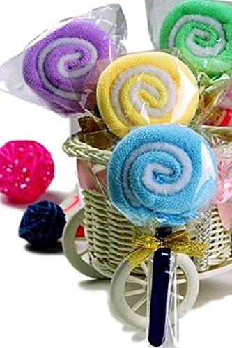 (SCGEHA) キャンディー型 ミニタオル プチタオル ギフト プレゼント プチギフト 個包装 5個セット