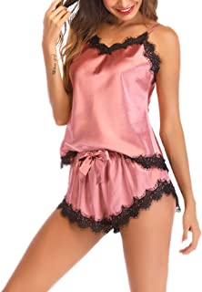 Women's Sexy Lace Pajamas Lingerie Set Underwear Babydoll Nightwear Short Pajamas Lace Pajamas Erotic Lingerie Satin Sexy ...