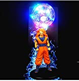 Anime Dragon Ball Night Light led luminoso creativo estatuilla de juguete Goku Spirit Bomb-Color