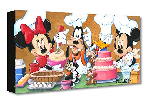 Disney Fine Art - Happy Kitchen by Michelle St Laurent - Treasures on Canvas Mickey Mouse 10 Inches x 20 Inches Reproduction Gallery Wrapped Canvas Wall Art