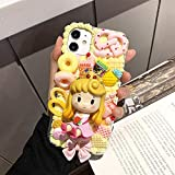 RKRLJX Phone Case Handmade Case Fit for Samsung Note20 Ultra DIY Customized Phone Cover A51/A71 Cute Princess Galaxy s9/10 s20 FE Cream Shell Note 10+ with Built-in Screen Protector