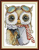 Beginner embroidery kits 24 x 33 cm Cute Owl Cute Tapestry embroidery set includes multilayer cotton threads [] Bordado con aguja 5D HD cod.301