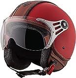 Casco De Moto De Cara Abierta Para Hombres Y Mujeres, Medio Cascos De Motocicleta Retro 3/4, Aprobado Por DOT, Casco De Ciclomotor De Crucero Vintage Para Bicicleta D,L