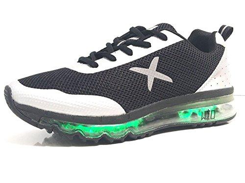 wize & ope Scarpe Uomo Donna Sneaker Con LED Multicolor Nero US17WO03