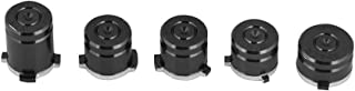5Pcs Bullet Buttons for Xbox One, Aluminium 9mm Bullet ABXY Buttons for Xbox One Controller(Black)