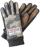 【ハリスツイード】HARRIS TWEED レディース 防寒 手袋 AY-17AA0178 (カモフラベージュ x グレー)