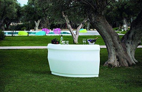 Modum Outdoor Cocktailbar LED beleuchtetes Bar-Set Pemba in Italienischem Design für Garten/Balkon/Terrasse