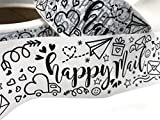 Cute Packing Shipping Tape - Packaging Happy Mail - Extra Large Roll - 110 YDS (330 FT)