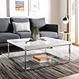 Safavieh Home Malone Glam White and Chrome Coffee Table