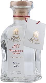 Ziegler Nr. 1 Wildkirsch-Brand - Obst Edelbrand aus Wild-Kirschen / 43 % vol. / 0,35 Liter-Flasche
