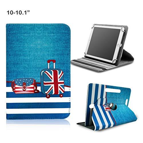 BEISK Funda Universal para Tablet de 10-10.1 Pulgadas, con Sistema Giratorio de 360º, Rotación, Protección, con Soporte, para Huawei Mediapad/Samsung Galaxy Tab/iPad/Lenovo TAB4 10, Etc. Maletas…