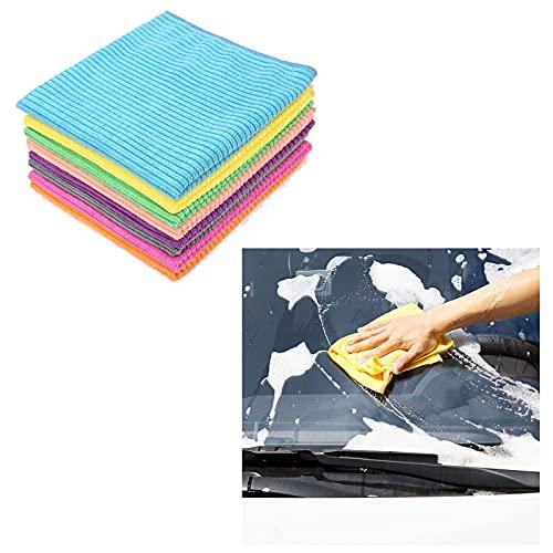 MONALA 10 toallas de microfibra para limpieza de coche, lavado y secado de coches para uso en coche y hogar, paño de perlas súper absorbente para pulido de coches 15.74 × 15.74 pulgadas (9)
