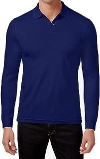 Tasso Elba Mens Long Sleeves Collared Polo Shirt