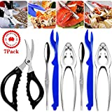 Seafood Tools Crab Crackers Stainless Steel Lobster Crackers and Picks...