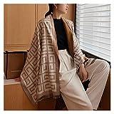 YuanLife Sciarpa Invernale Scarpa Sciarpa Scarpa Scialle Spessa Scialle Scialle Signore Wrap Design Stampa Coperta Calda (Colore : WG1 4 Camel)