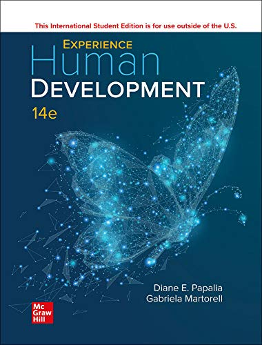 Compare Textbook Prices for ISE Experience Human Development 14 Edition ISBN 9781260570878 by Papalia,Diane,Martorell,Gabriela